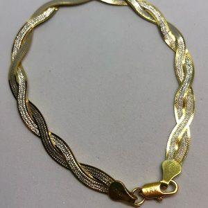 Jewelry - 🆕 .925/18ky double sided bracelet
